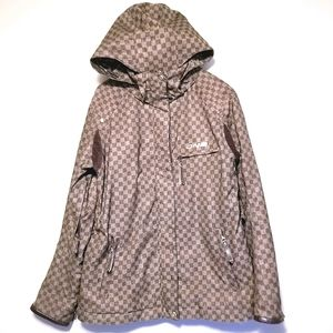 Descente DNA Brown Check Winter Jacket